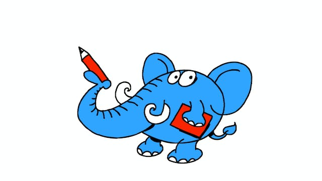 Learn To Draw Minis - Elephant