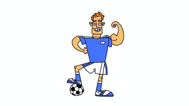 Learn To Draw Minis - Boy Footballer