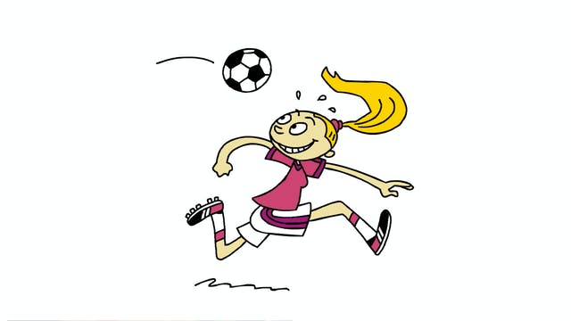 Learn To Draw Minis - Girl Footballer