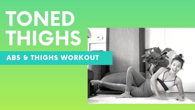 TONED THIGS - Leg workout