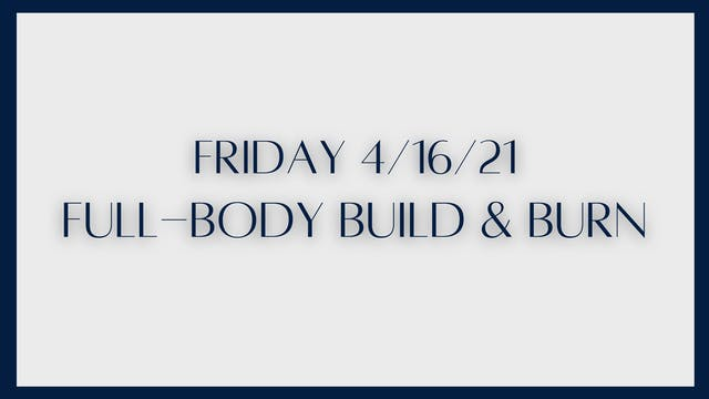 Full Body Build & Burn: Back and glut...