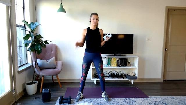 Build & Sweat: Glutes, quads, abs, upper traps (12/8/20)