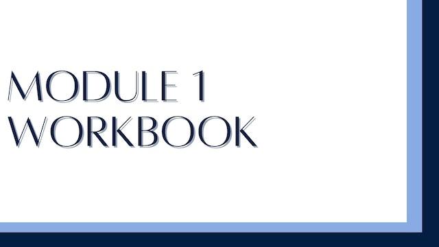 Module 1 workbook: Mindset
