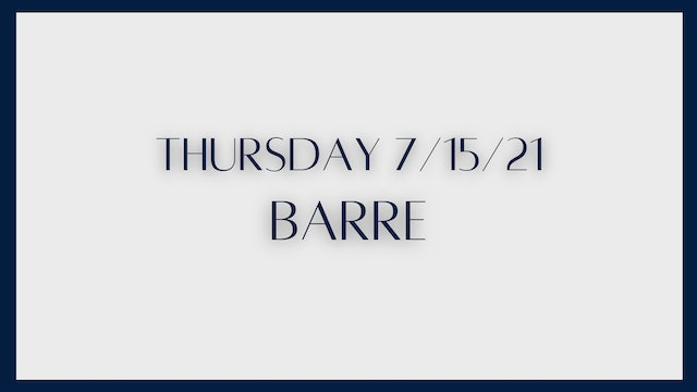 Barre: Glutes (7-15-21)