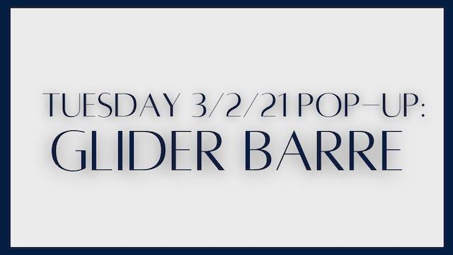 Glider barre: inner thighs, glutes, c...