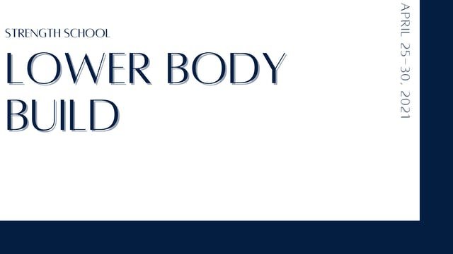 Lower Body Build: Quads & glutes (4-2...