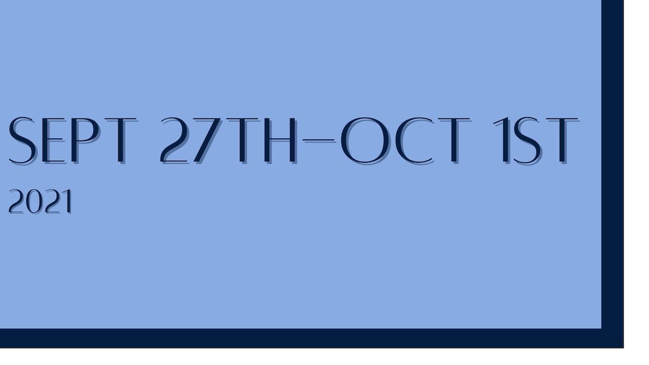 September 27th-October 1st