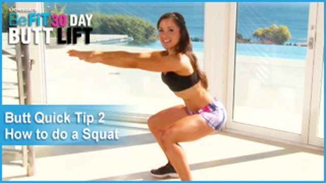 Quick Tip #2: How To Do A Perfect Squat|30 DAY BUTT LIFT