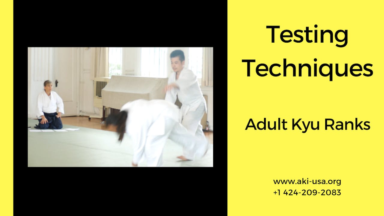 Testing Techniques: Adults 5th - 1st kyu