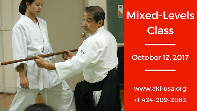 Mixed Levels Class: October 12, 2017 (Guest Instructor)