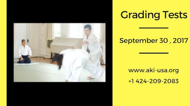 Testing: Adults Kyu Ranks, 9/30/17