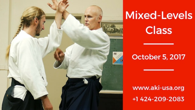 Mixed Levels Class: October 5, 2017