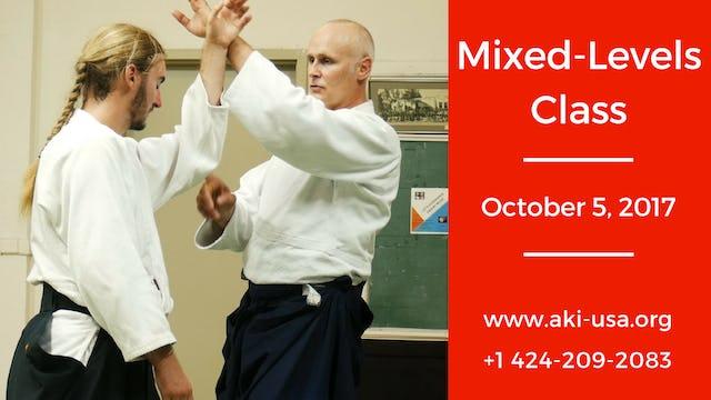 Mixed Levels Class: October 5, 2017