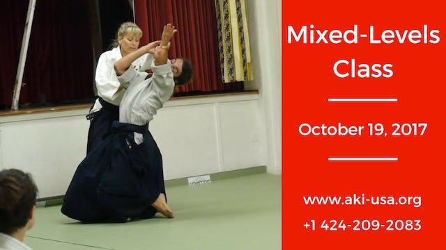 Mixed Levels Class: October 19, 2017