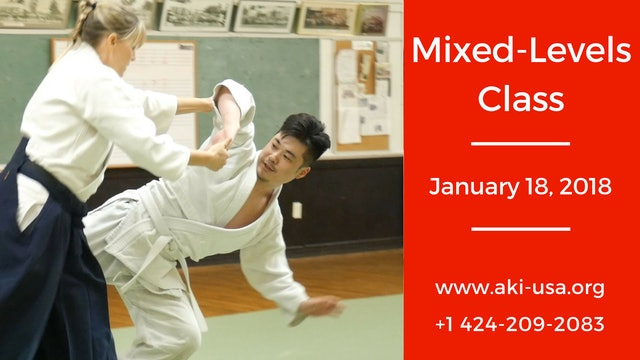 Mixed Levels Class January 18 2018