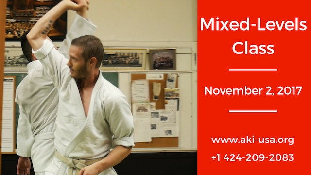 Mixed Levels Class: November 2, 2017