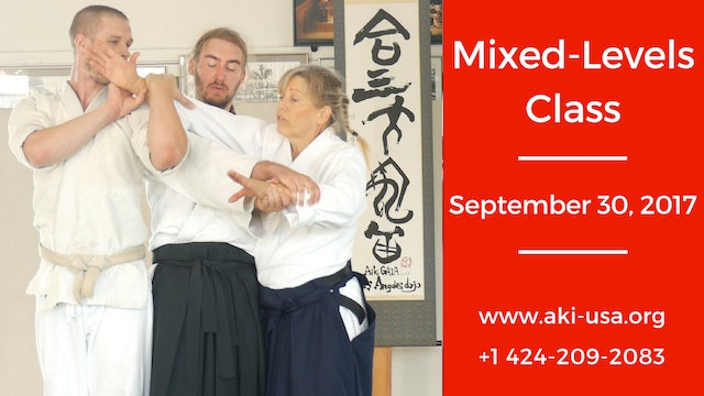 Mixed Levels Class: September 30, 2017