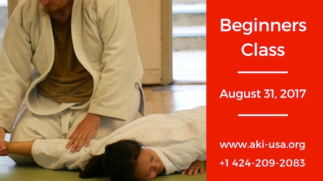 Beginners Class: August 31 2017