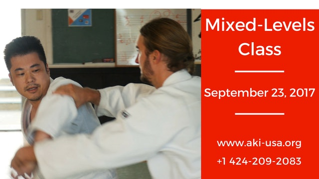 Mixed Levels Class: September 23 2017