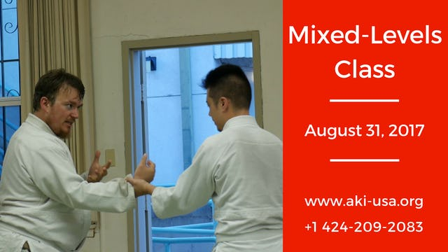 Mixed Levels Class: August 31 2017