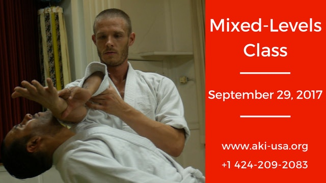 Mixed Levels Class: September 28, 2017