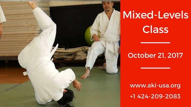 Mixed Levels Class: October 21, 2017