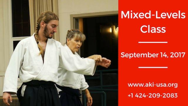 Mixed Levels Class: September 14, 2017