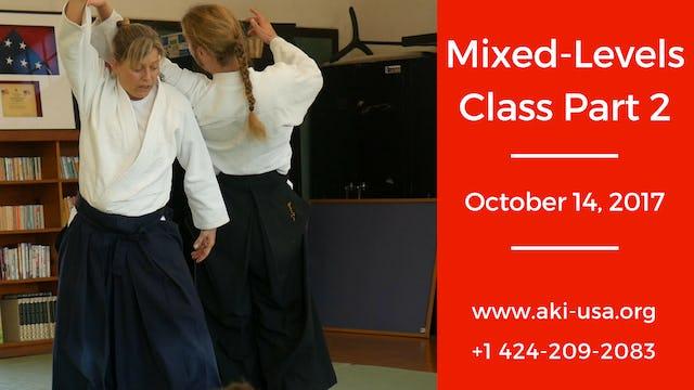 Mixed Levels Class October 14 Part 2