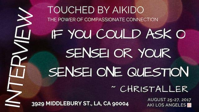 What Would You Ask O Sensei or Your Sensei ~ Christaller
