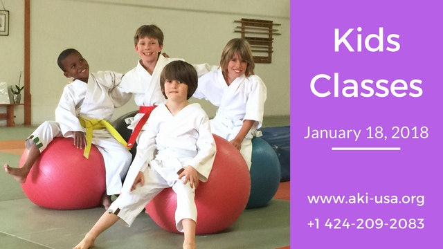 Kids Class January 18, 2018