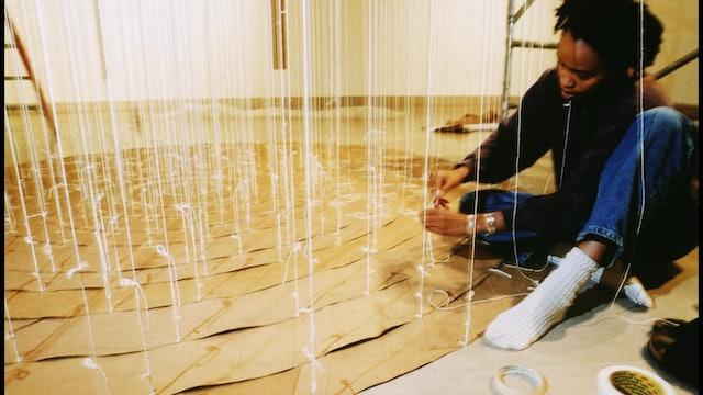 Annette Installing Exhibition