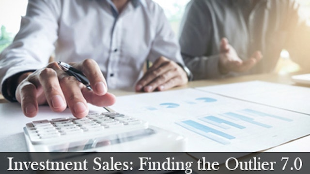 Investment Sales: Finding the Outlier 7.0