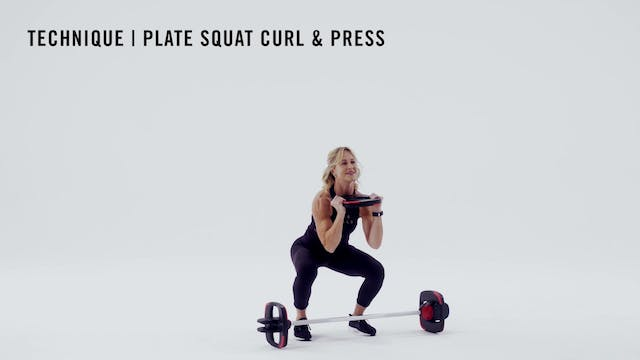 LES MILLS TECHNIQUE: Plate Squat Curl...