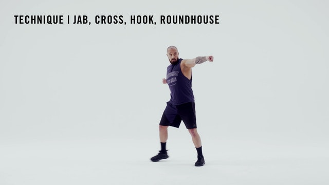 LES MILLS TECHNIQUE: Jab, Cross, Hook, Roundhouse Combo