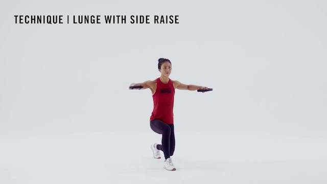 LES MILLS TECHNIQUE: Lunge with Side ...
