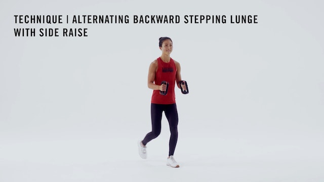 LES MILLS TECHNIQUE: Alternating Backward Stepping Lunge with Side Raise