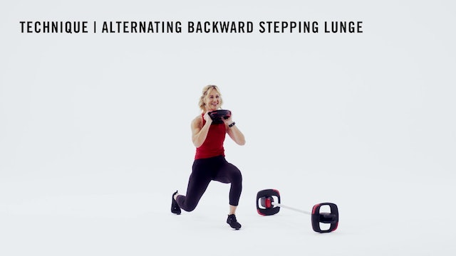 LES MILLS TECHNIQUE: Alternating Backward Stepping Lunge