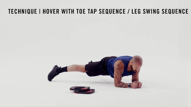 LES MILLS TECHNIQUE: Hover With Toe Tap Sequence / Leg Swing Sequence