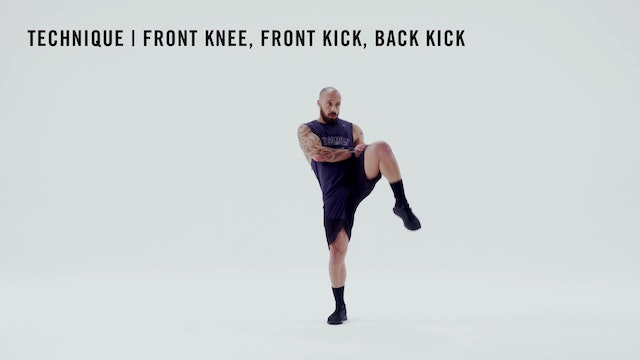 LES MILLS TECHNIQUE: Front Knee, Front Kick, Back Kick Combo