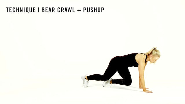 LES MILLS TECHNIQUE: Bear Crawl + Pushup