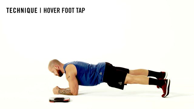 LES MILLS TECHNIQUE: Hover Foot Tap