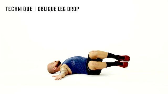 LES MILLS TECHNIQUE: Oblique Leg Drop