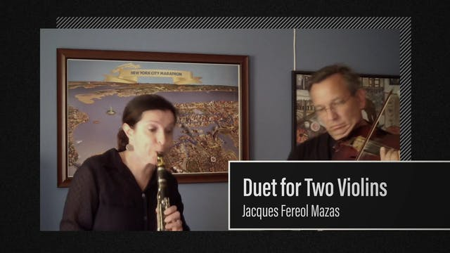 Ensemble Video : Duet for Two Violins performed with Clarinet and Violin