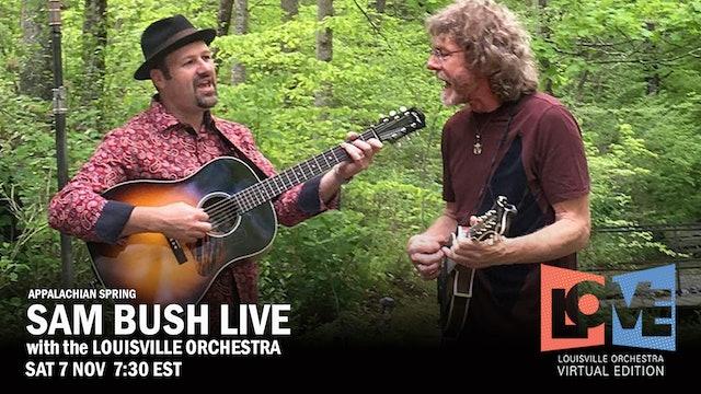 Live 11.7.20 Sam Bush + LO-American Sings 730p EST