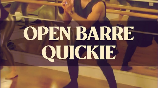 Open Barre Quickie with Joan - LIVE March 15, 2021