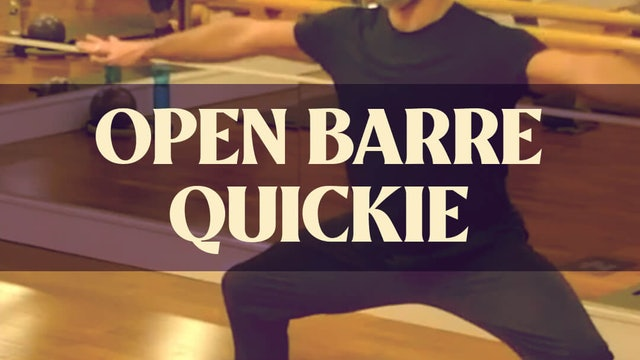 Open Barre Quickie with Joan - LIVE April 12, 2021