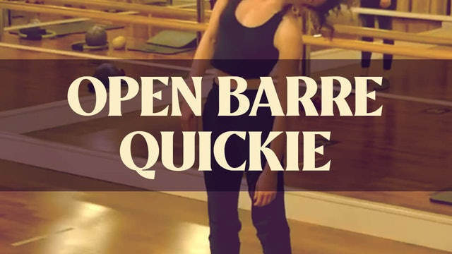 Open Barre Quickie with Katie G. - LIVE January 31, 2021