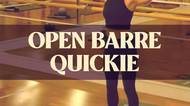 Open Barre Quickie with Manon - LIVE January 29, 2021