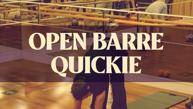 Open Barre Quickie with Joan - LIVE December 14, 2020