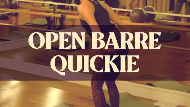 Open Barre Quickie with Kyla - LIVE December 19, 2020